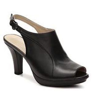 Naturalizer N5 comfort black danby peep toe pump
